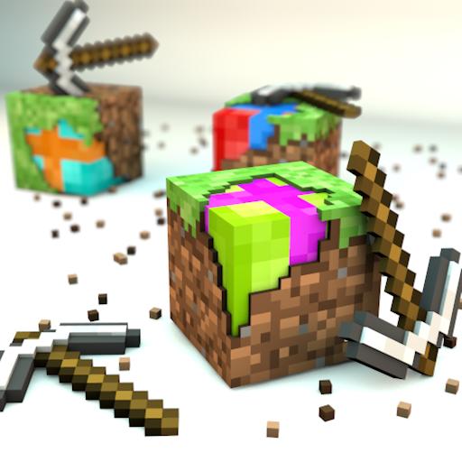 des cubes et des pioches